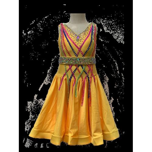 租用Step Up拉丁舞比賽舞裙 (適合身高130-140cm)